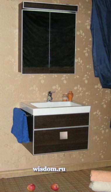 """Модель мебели для ванных """"Arctic """" -хорошее решение для небольших санузлов..."""